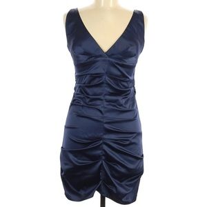 Rubber Ducky,Beautiful navy blue ruched mini dress